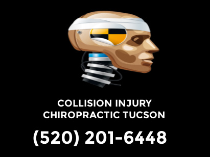 Picture of Crash dummy headshot with collision injury Chiropractic text