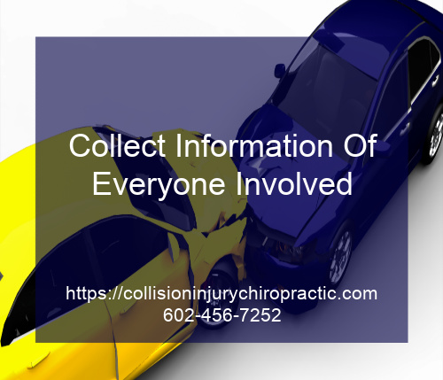 Graphic stating Collect Information Of Everyone Involved
