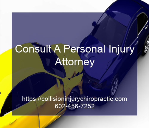 Graphic stating Consult A Personal Injury Attorney