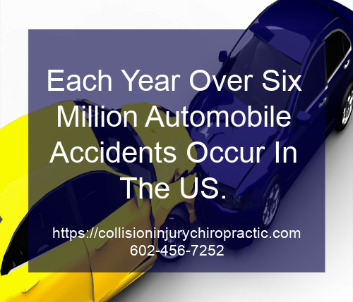 Graphic stating Each Year, Over Six Million Automobile Accidents Occur In The US.