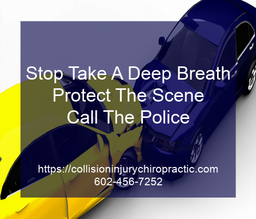 Graphic stating Stop Take a Deep Breath, Protect The Scene, Call The Police