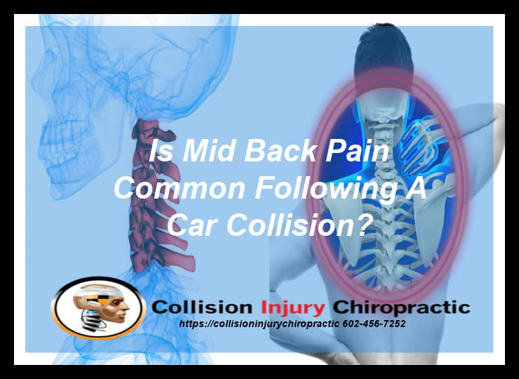 Graphic stating Is Mid Back Pain Common Following A Car Collision