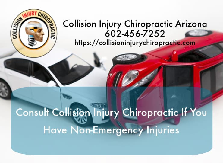 Graphic stating Consult A Chiropractor If You Have Non-Emergency Department Injuries